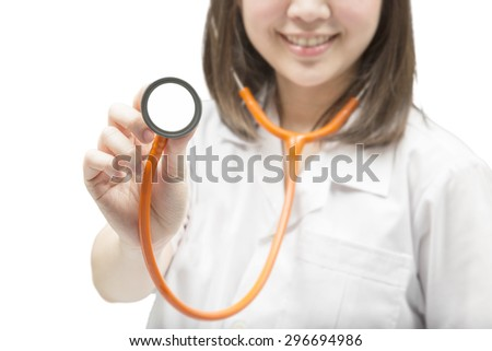 health check up with doctor concept - stock photo