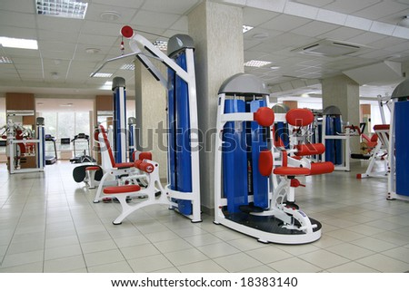 health club and lifting machines