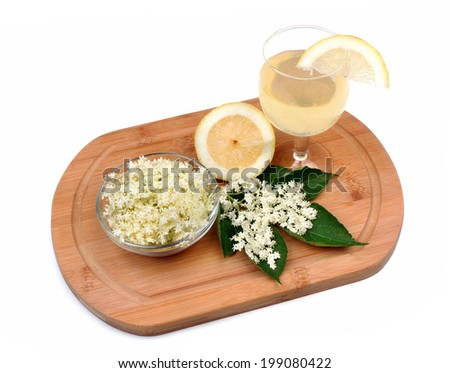 Health drink made from elderberry flowers - stock photo