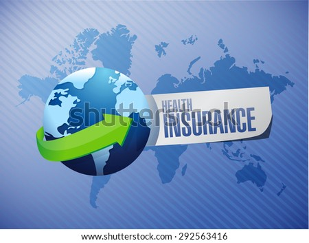 Health Insurance international sign concept illustration design graphic