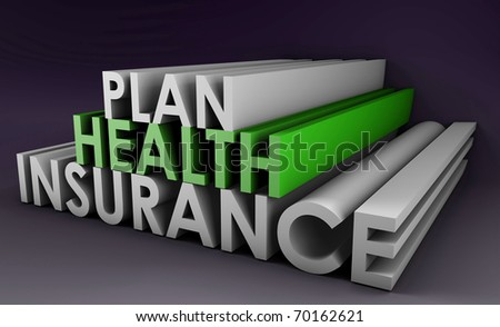 Health Insurance Plan Policy in 3D Art - stock photo