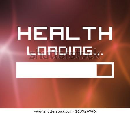 Health Loading Screen - stock photo