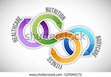 health medical diagram illustration design over white - stock photo