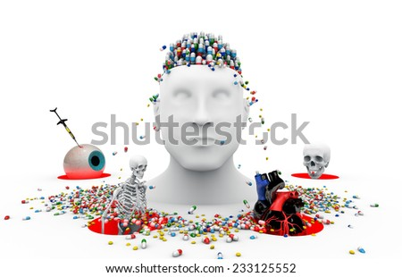 Health, medicine, suffering and death. Image symbolizing the disease and suffering. - stock photo