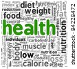 Health related words concept in tag cloud - stock photo