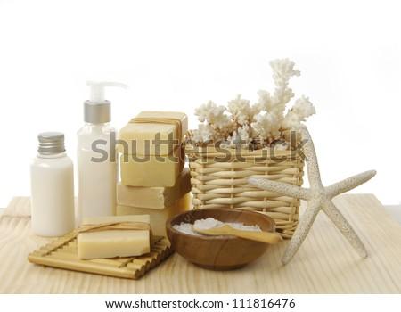 health spa setting - stock photo
