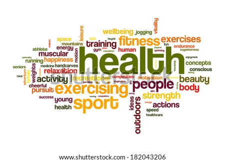 health sport word cloud concept image - stock photo