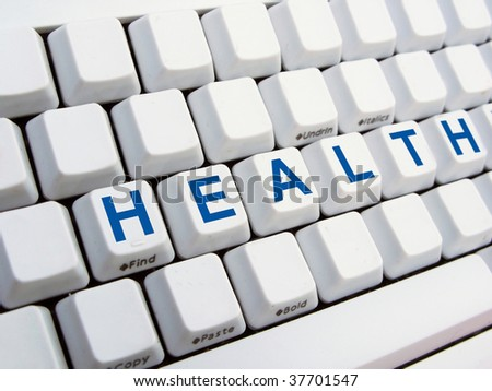 HEALTH text on the keyboard
