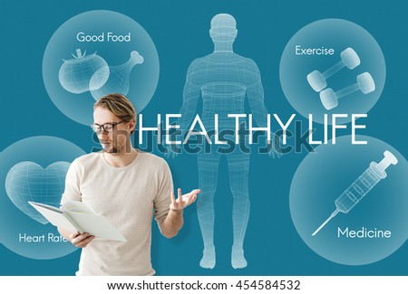 Health Wellbeing Wellness Vitality Healthcare Concept - stock photo