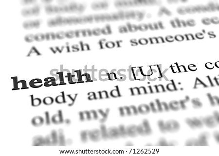 health word from dictionary, close up - stock photo
