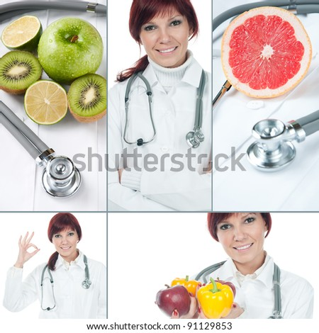 Healthcare and medicine collage - stock photo