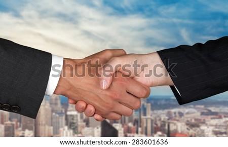 Healthcare And Medicine, Handshake, Business. - stock photo