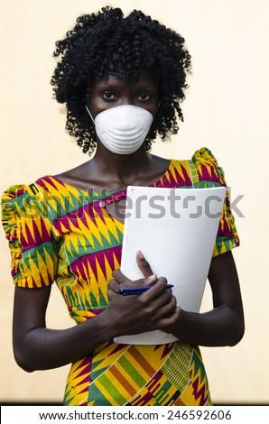 Healthcare and Medicine: Illness Disease Cure in Africa (Nurse) - stock photo