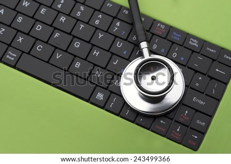 Healthcare and medicine or computer antivirus protection - stock photo