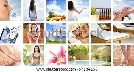Healthcare collage - stock photo