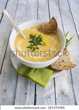 Healthy and delicious butternut squash soup
