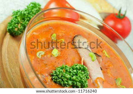 Healthy and delicious food – goulash soup
