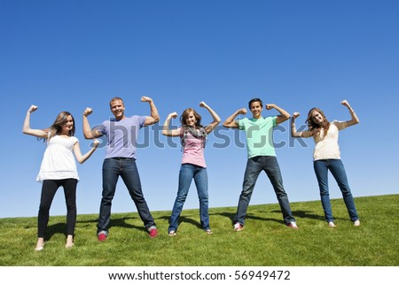 Healthy and Strong Young Adults - stock photo