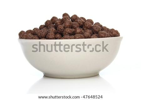 Healthy and tasty breakfast - chocolate cereals