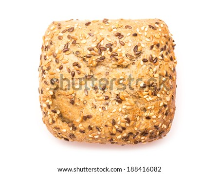 Healthy Bread With Seeds Isolated - stock photo