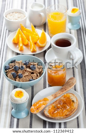 healthy breakfast - stock photo