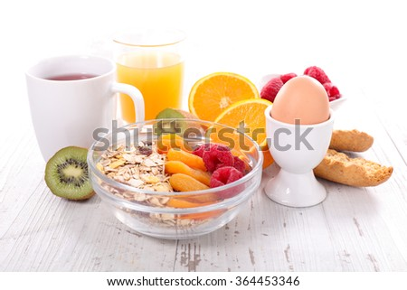 healthy breakfast,diet and health concept
