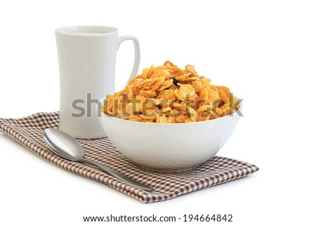 Healthy breakfast with cereal - stock photo