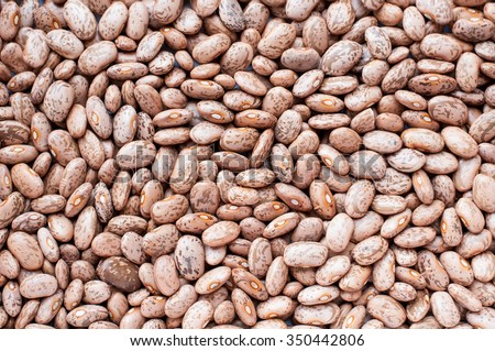 Healthy Brown Pinto Beans with High Fiber and Low Fat Contents, used for Wallpaper Backgrounds. Captured in High Angle View