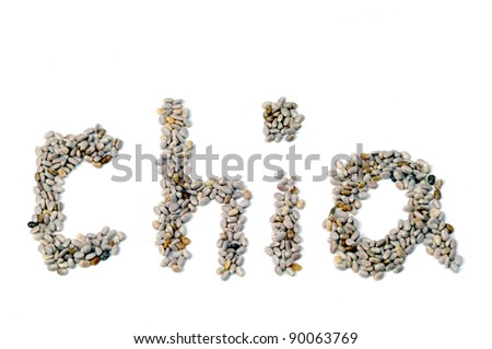 Healthy Chia Seeds for Weightloss isolated on white background - stock photo