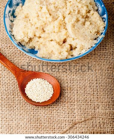 healthy cooked quinoa - stock photo