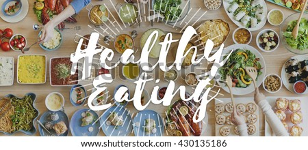 Healthy Eating Healthy Food Nutrition Organic Wellness Concept - stock photo