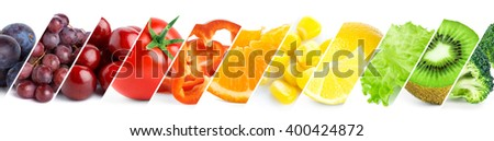 Healthy food concept. Fresh color food