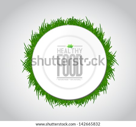 healthy food concept illustration design graph over a white background - stock photo