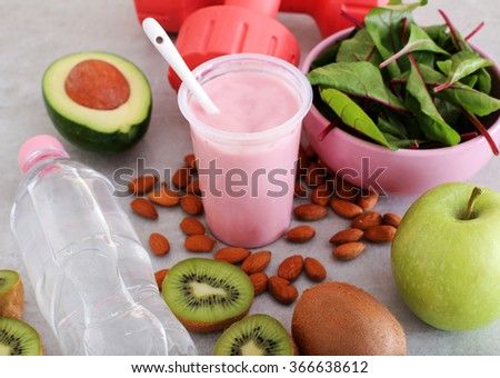 Healthy food on the table - stock photo
