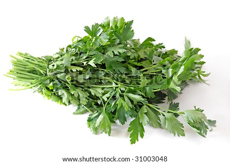 Healthy food. Parsley