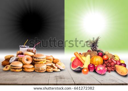compare contrast essay junk food healthy food