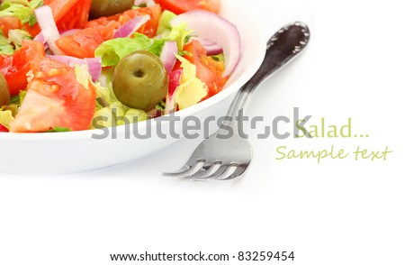 Healthy Fresh Salad isolated on white background