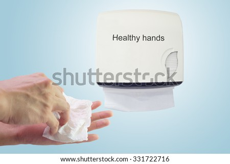 Healthy hand : Cleaning hands - stock photo
