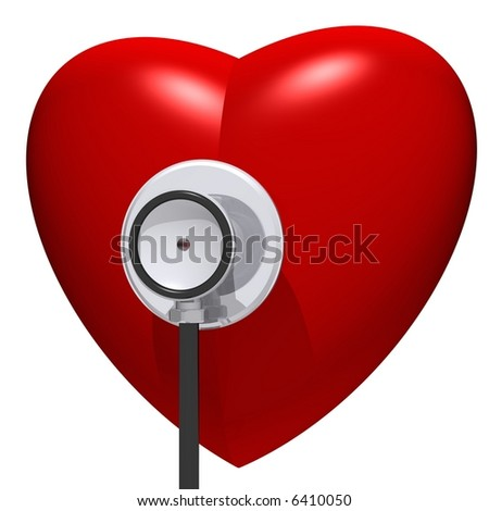 Healthy heart concept isolated on white - stock photo