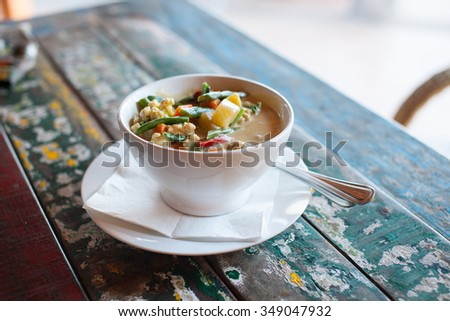 Healthy Indonesian food, stock picture - stock photo