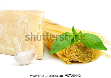 Healthy ingredients in italian traditional cousine - stock photo