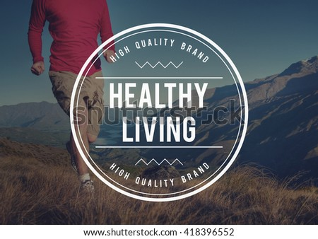 Healthy Life Living Nutrition Active Exercise Concept - stock photo