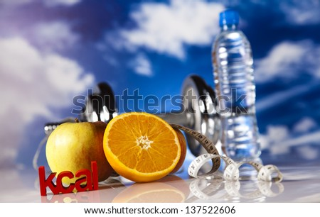 Healthy lifestyle concept, vitamins