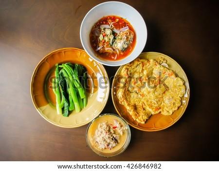 Healthy meal, thai food - stock photo