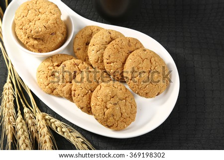 Healthy Oatmeal Cookies - stock photo