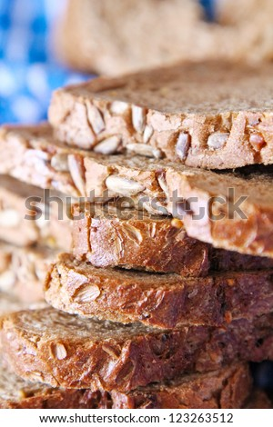 Healthy organic fresh brown Bread - stock photo