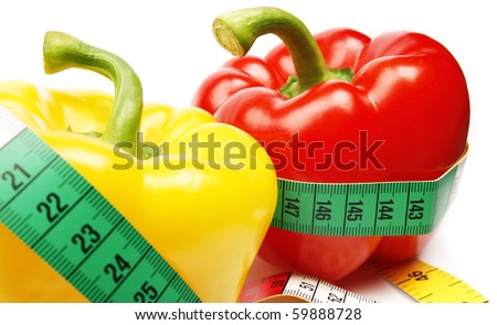 Healthy peppers - stock photo