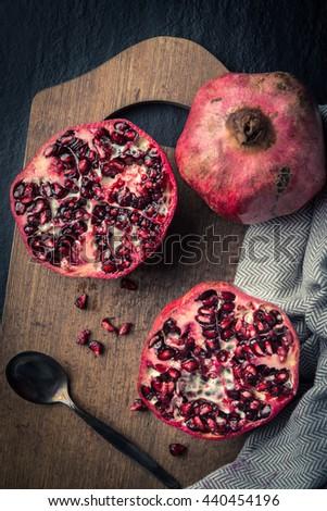 Healthy Pomegranate fruit - stock photo