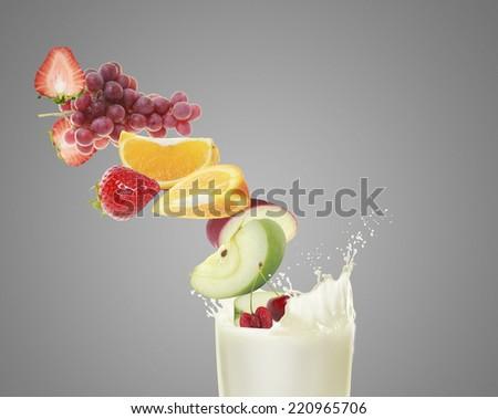 Healthy refreshment sweet and milkshake - stock photo