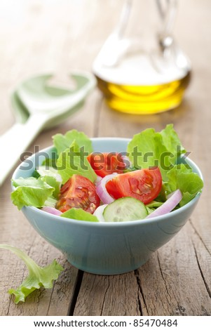 healthy salad - stock photo